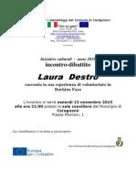Iniziative Culturali Incontro del 13nov15_Laura Destro