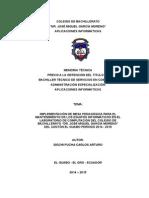 Proyecto de Grado - Implementación de Mesa Para Mantenimiento de PC