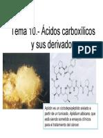 Problemas Tema 10 Acidos Carboxilicos