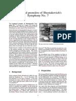 Leningrad Première of Shostakovich's Symphony No. 7