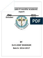 Post Graduate 6 Months Academic Report UDAY