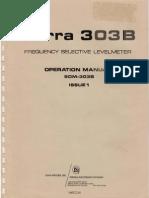 Sierra 303B Frequency Selective Levelmeter ~ Operation Manual (SOM-303B), January 1974.