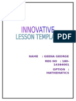 INNOVATIVE LESSON TEMPLATE