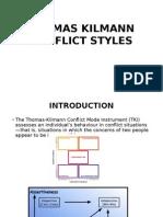 Thomas Kilmann Conflict Styles