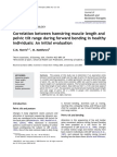 Correlation Between Hamstring Muscle Length And