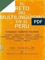 Alberto Escobar - El Reto Del Multuilingüismo en El Perú (1972)