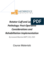 Rotator Cuff Labral Pathology