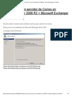 Instalación de un servidor de Correo en Windows Server 2008 R2 + Microsoft Exchanger Server 2010 _
