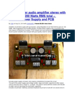 Circuit Power Audio Amplifier Stereo With TDA7293