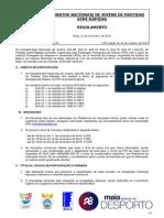 Regulamento Campeonato Nacional de Jovens 2015-2016