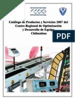 Catalogo de Productos y Servicios de Crode Chihuahua 2007