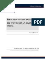 Baldeon H., Genaro - Instrumentación Arbitraje Comunidad Andina (PDF)