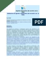 Validação de Agentes Saneantes PORTUGUÉS - ESPAÑOL