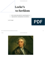 John Locke's Road to Serfdom