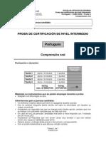 Comprension Oral Portugués