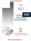 Business Valuation Management study material download
