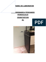 Pendul gravitational- Lucrare de laborator