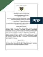Resolucion 0156 de 2005