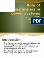 Role of Transformers