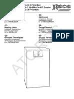 1 Manual Instrucciones Gavina Gt Gti f Confort Instalador 2003