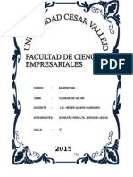 Cadena de Valor Integración & Proyectos Sac