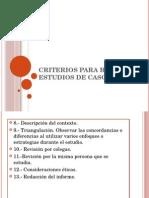 Criterios Para Realizar Estudios de Caso Vicente