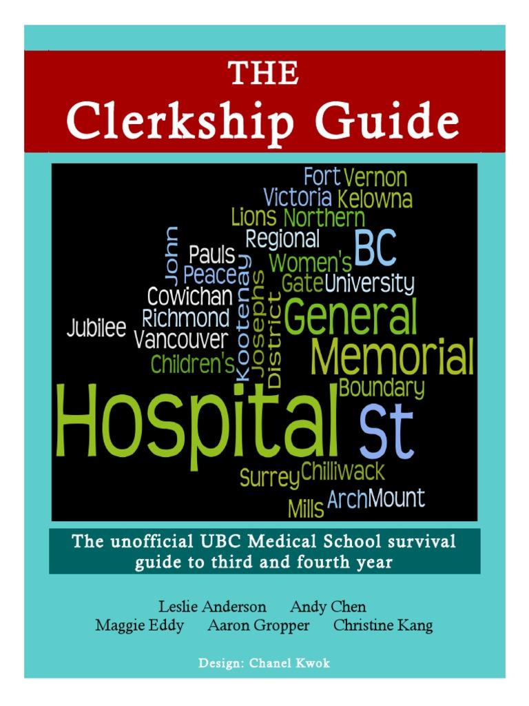 The Clerkship Guide   Residency (Medicine)   Nursing