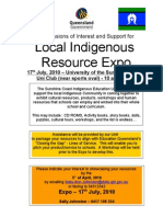 Expressions of Interest & Support - Resource Expo