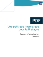 Rapport D'actualisation de La Politique Linguistique 2012