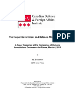 The Harper Government and Defence After Four Years