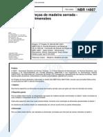 NBR 14807 (Fev 2002) - Pessas de Madeira Serrada - Dimensões