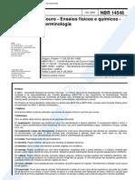 NBR 14548 (Jul 2000) - Couro - Ensaios Físicos e Químicos - Terminologia - Cópia