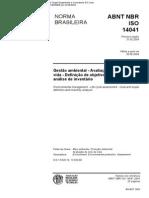 NBR - IsO 14041 (Maio 2004) - Gestão Ambiental - Avaliação Do Ciclo de Vida - Definição de Objetivo e Escopo e Análise de Inventário