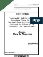 Memoria Plan Negocios SISTEMA DE RIEGO