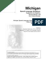 MichiganSpeechLanguageGuidelinesRevised12-06