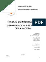 La Deforestación y La Industria de La Madera