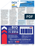 Pharmacy Daily for Mon 09 Nov 2015 - Codeine critic misquotes, Pharmacist numbers up 2.6%, Quad flu vax for 2016, Gardasil vax cleared, Weekly Comment and much more