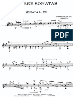Scarlatti 3 Sonatas trancrites pour guitare par Carlos Barbosa Lima