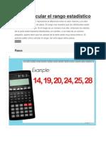 Cómo Calcular El Rango Estadístico