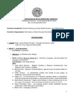 Programa - Iº Interescuelas de Filosofia Del Derecho