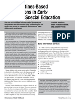 using routines based interventions in early childhood special education danielle jennings mary frances hanline juliann woods