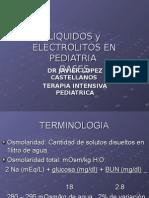 Liquidos y Electrolitos en Pediatria