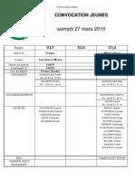 FCC La Joux - Convocation Jeunes 27-03-2010