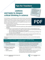 Tips4Teachers Tweaking Questions and Tasks to Deepen Scientific Thinking in Science