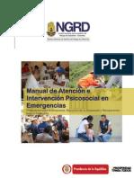 Manual de Atención e Intervención Psicosocial en Emergencias