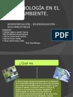 Biotecnología en El Medio Ambiente
