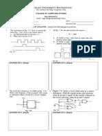 Final Examination - Logic Design