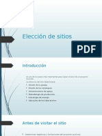 Elección de Sitios