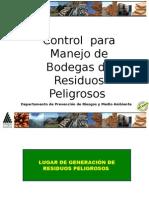 Control Para Manejo Bodega de Residuos Peligros