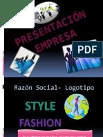 Presentación Empresa STYLE FASHION